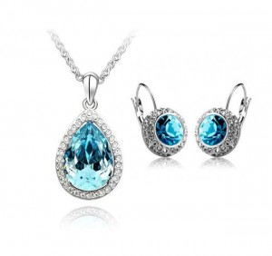 Holiday-sale-AKS078-Wholesale-White-Gold-Plated-Lovely-blue-Austrian-Crystal-Jewelry-Set-Fashion-Jewelry