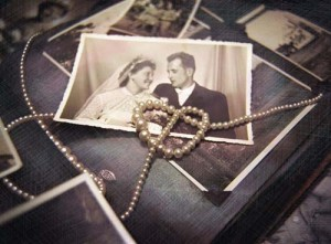 Model Release Old Wedding Portrait with Pearls