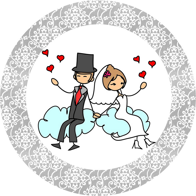 Рисуем открытку к годовщине свадьбы